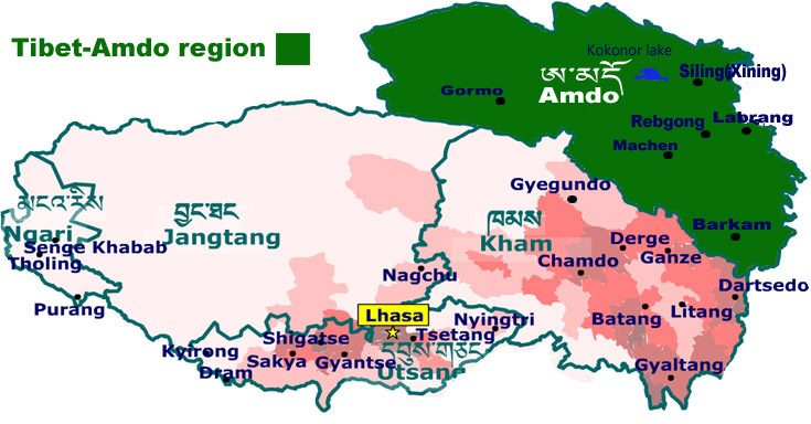 map of amdo