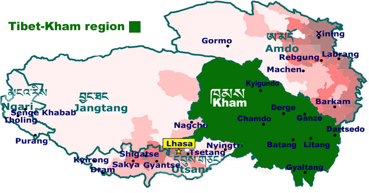 map of kham